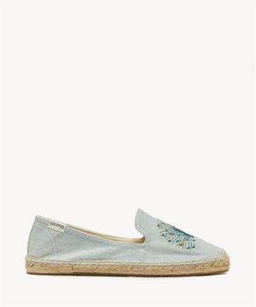 Soludos Soludos Peacock Smoking Slipper Embroidered Espadrille