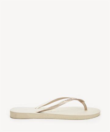Havaianas Havaianas Slim Solid Flip Flop Sand Grey Light Golden 6 Flops Rubber From Sole Society
