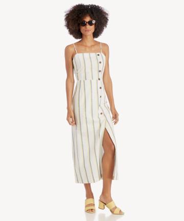 J.o.a. J.o.a. Button Down Maxi Dress