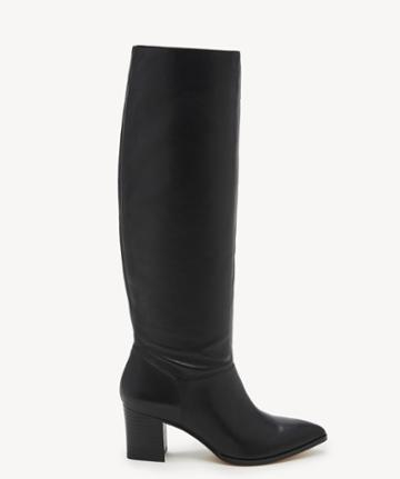 Sole Society Women's Danilynn Tall Heeled Boots Black Size 5 Leather From Sole Society