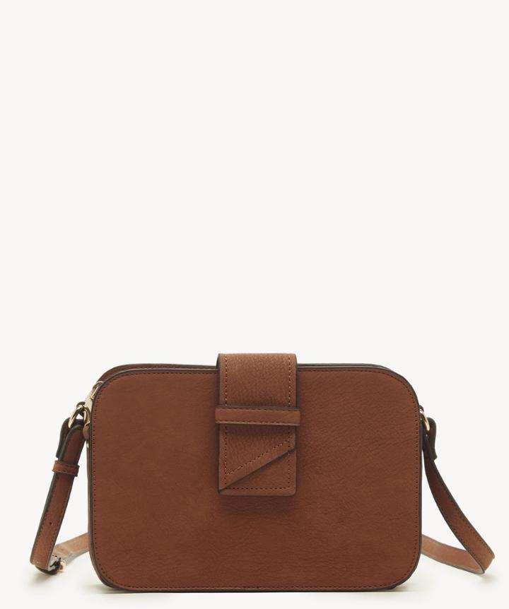 Sole Society Women's Valah Crossbody Bag Convertible Cognac Faux Leather From Sole Society