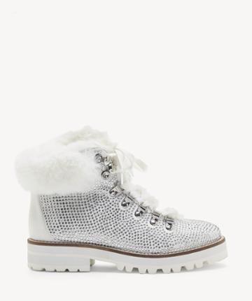 Jessica Simpson Jessica Simpson Women's Norina In Color: White Shoes Size 5 Fine Glitter From Sole Society