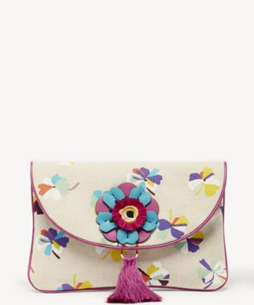 Vince Camuto Vince Camuto Women's Ree Clutch Natural Floral From Sole Society
