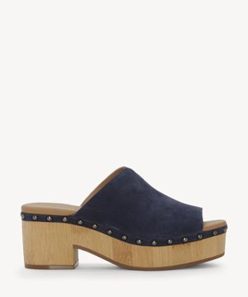Lucky Brand Lucky Brand Women's Simbrenna Platform Sandals Indigo Size 5 Suede From Sole Society