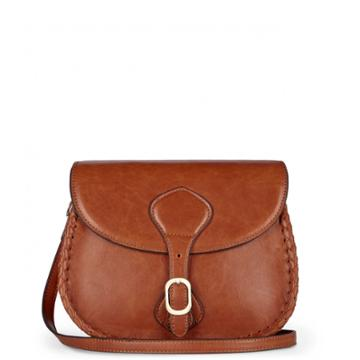 Sole Society Sole Society Duncan Braided Saddle Bag - Cognac