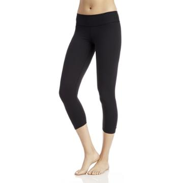 Beyond Yoga Beyond Yoga Back Gathered Capri Legging - Black