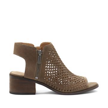 Lucky Brand Lucky Brand Nelwyna Cut Out Peep Toe Sandal - Brindle-6