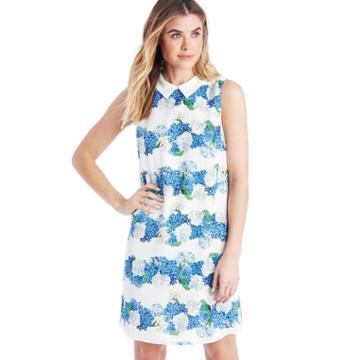 Cece Cece Plaid Hydrangea Dress - New Ivory-0