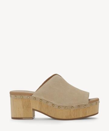 Lucky Brand Lucky Brand Women's Simbrenna Platform Sandals Travertine Size 5 Suede From Sole Society