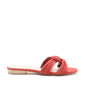 Sole Society Sole Society Dahlia Knotted Flat Sandal - Paprika-5