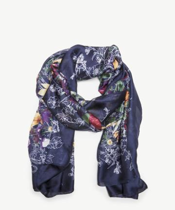 Sole Society Women's Ornate Floral Print Scarf Navy Multi From Sole Society