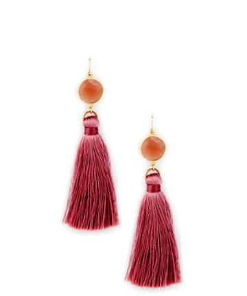 Sole Society Sole Society Gold Filled Stone Tassel Earring