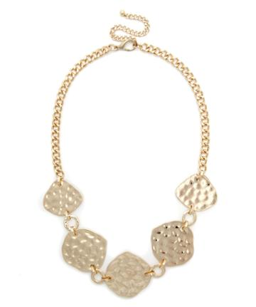 Sole Society Women's Hammered Statement Necklace Gold One Size From Sole Society