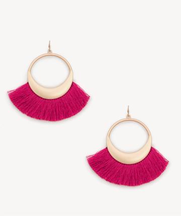Sole Society Sole Society Pina Tassel Earrings - Fuschia-one Size