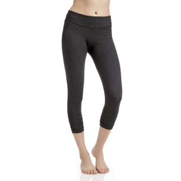Beyond Yoga Beyond Yoga Essential Gathered Capri Legging - Heather Gray