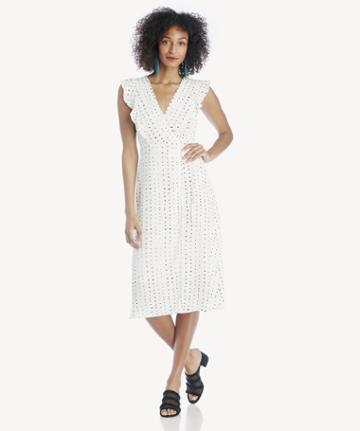 Lost + Wander Lost + Wander Dottie Ruffle Midi Dress