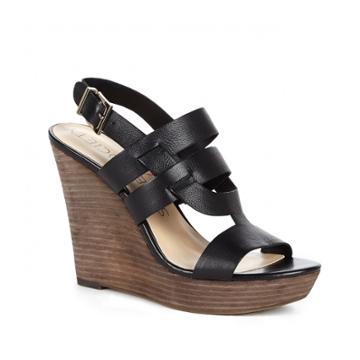 Sole Society Sole Society Jenny Platform Wedge Sandal - Black-6