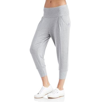 Beyond Yoga Beyond Yoga Modal Terry Freestyle Capri - Heather Grey