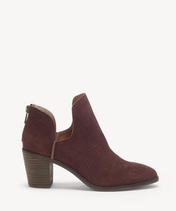 Lucky Brand Lucky Brand Women's Powe Cut Out Bootie Raisin Size 5 Leather From Sole Society