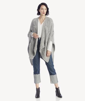 Sole Society Women's Cable Cardigan Grey One Size From Sole Society