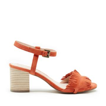 Sole Society Sole Society Sepia Fringe Ankle Strap Sandal - Creamsicle-5