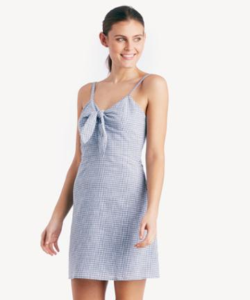 J.o.a. J.o.a. Tie Front Sleeveless Dress