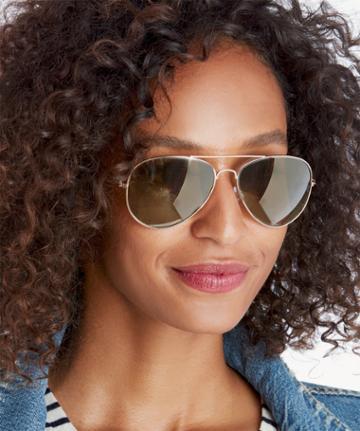 Sole Society Sole Society Vernon Mirrored Aviator Sunglasses