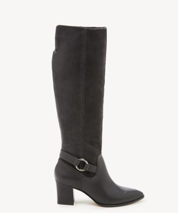 Sole Society Women's Daleena Tall Heeled Boots Iron Size 5 Leather Suede From Sole Society