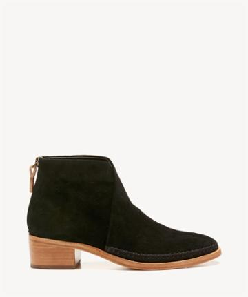 Soludos Soludos Women's Venetian Bootie Mules Black Suede Size 6 Leather From Sole Society