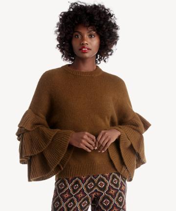 J.o.a. J.o.a. Ruffle Sleeve Sweater