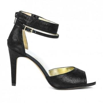 Solesociety Denelle Ankle Strap Heel - Black