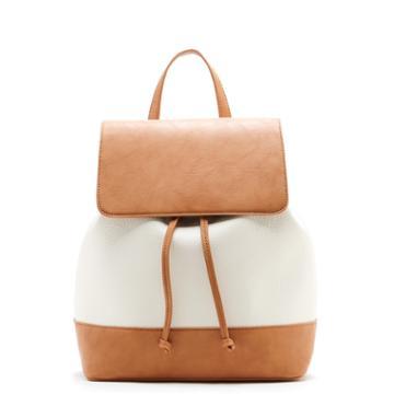 Sole Society Sole Society Kaili Two Tone Backpack - Cream Camel