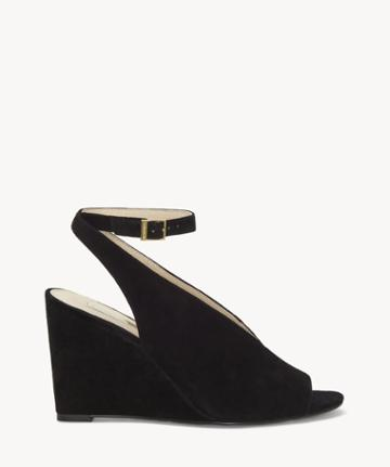 Louise Et Cie Louise Et Cie Women's Piarissa Slingback Wedges Black Size 5 Suede From Sole Society