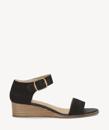 Lucky Brand Lucky Brand Women's Riamsee Low Wedges Black Size 5 Leather From Sole Society