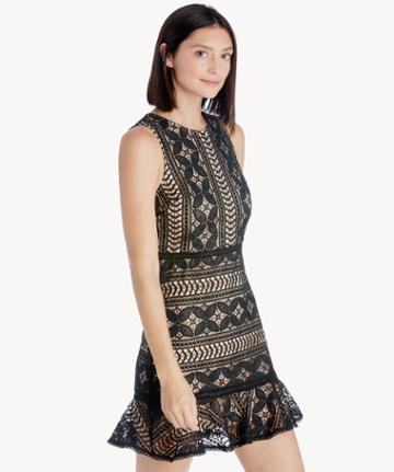J.o.a. J.o.a. Sleeveless Ruffle Hem Mini Dress
