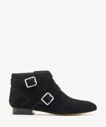 Sole Society Women's Melessie Buckle Bootie Black Size 5 Cow Split Suede From Sole Society