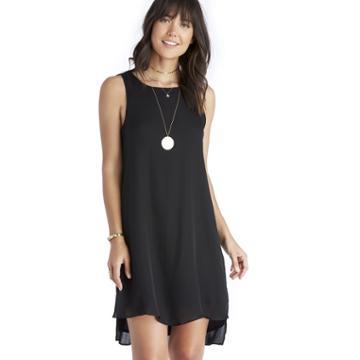 Heather Heather Silk Layered Split Side Dress - Black