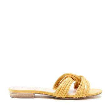 Sole Society Sole Society Dahlia Knotted Flat Sandal - Spicy Mustard-5