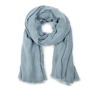 Sole Society Sole Society Essential Raw Edge Scarf - Blue Grey