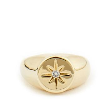 Sole Society Sole Society Plated Signet Ring - Gold
