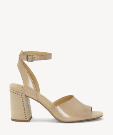 Lucky Brand Lucky Brand Women's Verlena Flare Heels Sandals Eyelash Size 5 Leather From Sole Society