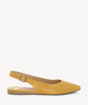 Lucky Brand Lucky Brand Women's Beratan Slingback Pointed Toe Flats Inca Gold Size 5 From Sole Society