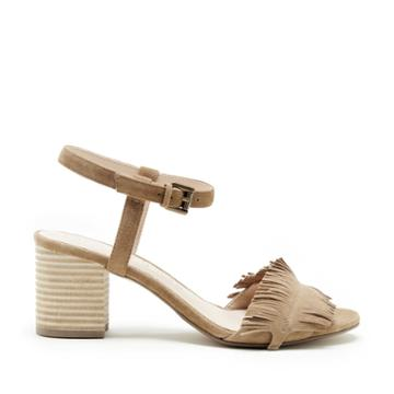Sole Society Sole Society Sepia Fringe Ankle Strap Sandal - Coffee-5