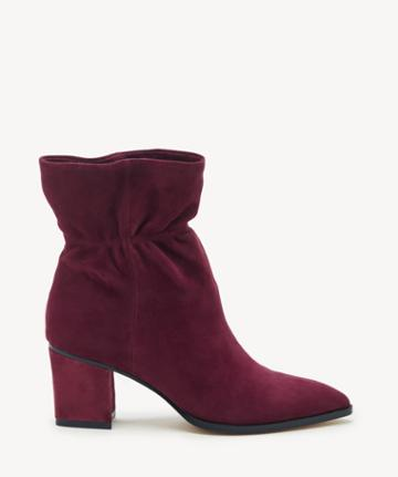 Sole Society Women's Demetria Paperbag Bootie Wine Leather From Sole Society