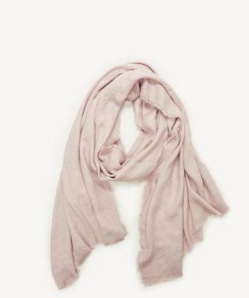 Sole Society Women's Raw Edge Scarf Blush From Sole Society