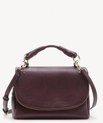 Sole Society Women's Rubie Crossbody Vegan Bag Oxblood Vegan Leather From Sole Society