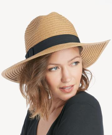 Sole Society Women's Wide Brim Fedora Hat With Band Tobacco One Size Paper Polyester From Sole Society