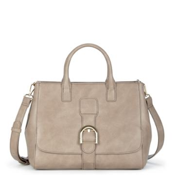 Sole Society Sole Society Zola Front Flap Satchel - Taupe
