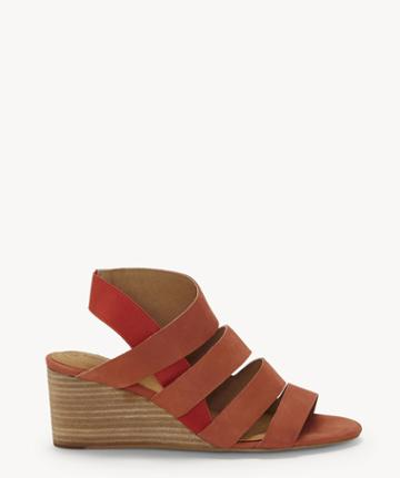 Cc Corso Como Cc Corso Como Women's Ontariss Wedges Sandals Hot Sauce Size 10 Leather From Sole Society