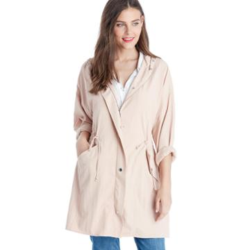 Two By Vince Camuto Two By Vince Camuto Oversized Washed Soft Anorak - Coral Sands-xs